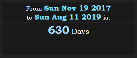 From Charles Manson death to August Eleven are 630 days.PNG